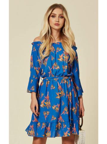 Zibi London Sukienka w kolorze niebieskim ze wzorem