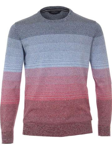 CASAMODA Sweter w kolorze błękitno-czerwonym