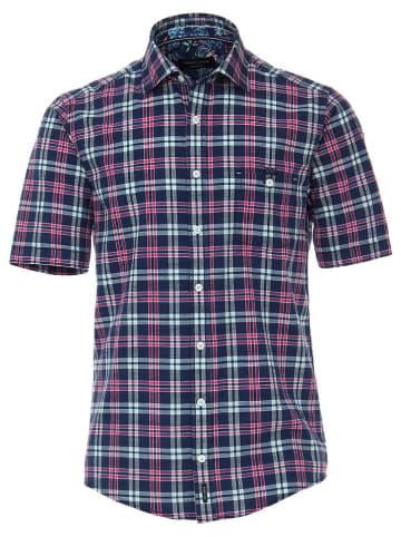 CASAMODA Koszula - Casual fit - w kolorze granatowo-różowo-błękitnym