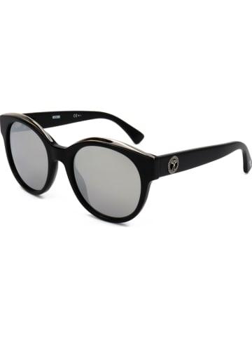 Moschino Damskie okulary przeciwsłoneczne w kolorze czarno-szarym