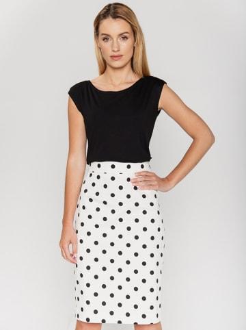 Bialcon Spódnica w kolorze biało-czarnym