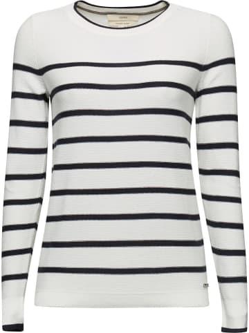 ESPRIT Sweter w kolorze biało-granatowym