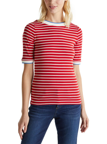 ESPRIT Koszulka w kolorze czerwono-białym