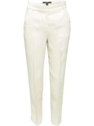 ESPRIT Spodnie w kolorze kremowym