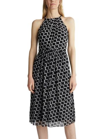 ESPRIT Kleid in Schwarz/ Weiß
