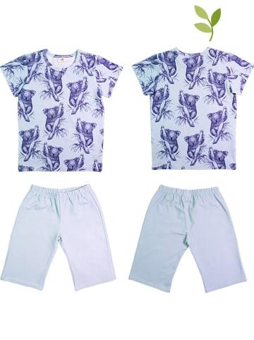 Walkiddy Pyjama lichtblauw/blauw
