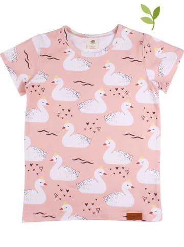 Walkiddy Shirt in Rosa/ Weiß