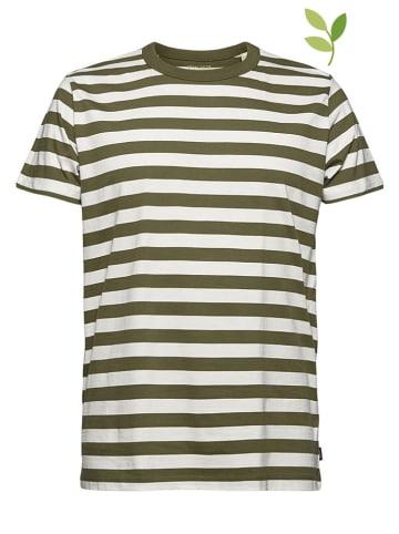 ESPRIT Koszulka w kolorze oliwkowo-kremowym