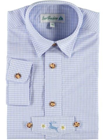 Isartrachten Trachtenhemd in Hellblau
