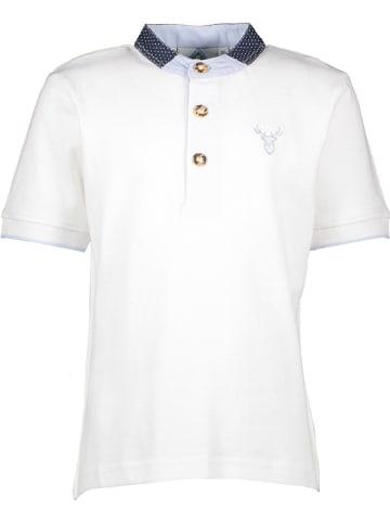 Isartrachten Poloshirt in Weiß
