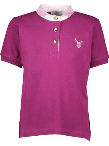 Isartrachten Poloshirt in Violett