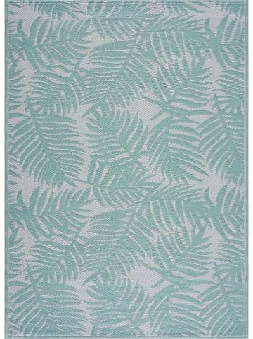 """Nazar Indoor-/outdoor-tapijt """"Scoobi"""" turquoise/wit"""