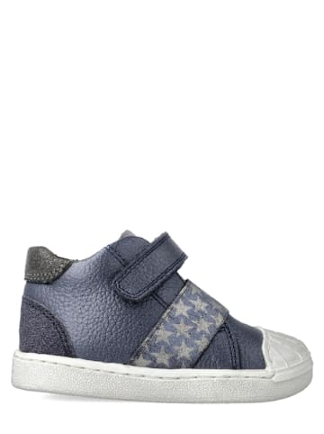 Garvalin Leren sneakers - donkerblauw