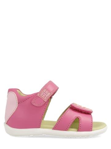 Agatha Ruiz de la Prada Skórzane sandały w kolorze różowym