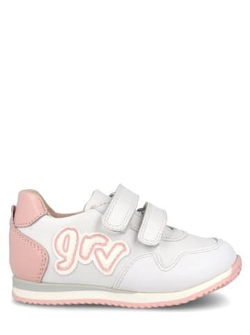 Garvalin Leder-Sneakers in Weiß/ Rosa