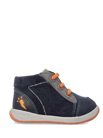 Garvalin Skórzane buty w kolorze granatowym do nauki chodzenia