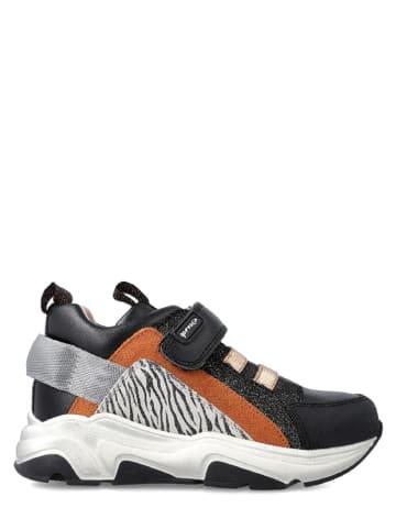 Garvalin Leren sneakers zwart/camel