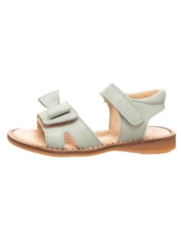 POM POM Leren sandalen mintgroen