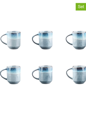 """Björn Kubki (6 szt.) """"Genesis"""" w kolorze niebieskim do kawy - 400 ml"""