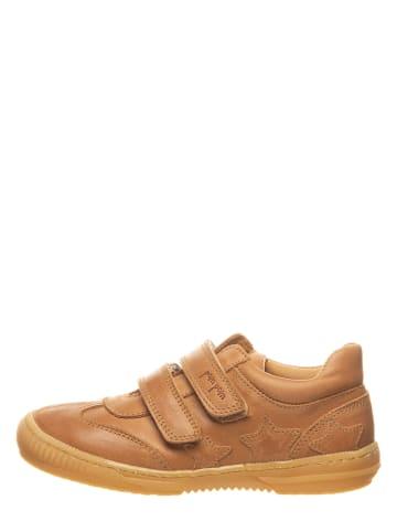 POM POM Skórzane sneakersy w kolorze kamelowym