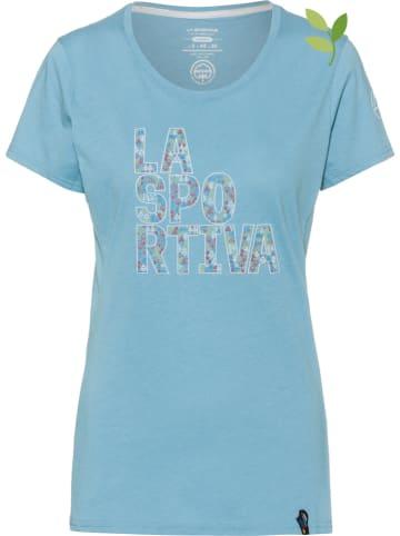 """LA SPORTIVA Koszulka """"Pattern"""" w kolorze błękitnym"""