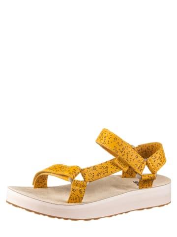 """Teva Leren sandalen """"Mildform Universal Star"""" mosterdgeel"""
