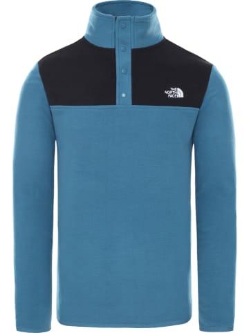 """The North Face Bluza polarowa """"Glacier Snapneck"""" w kolorze niebieskim"""