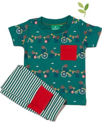 Little Green Radicals Piżama w kolorze zielonym
