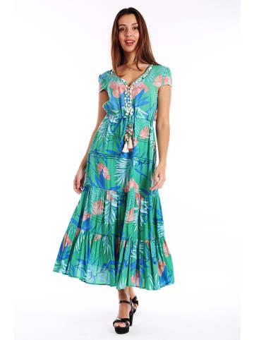 Last Queen Sukienka w kolorze turkusowym ze wzorem
