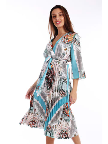 Last Queen Plissé-jurk meerkleurig