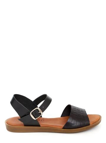 Mia Loé Skórzane sandały w kolorze czarnym