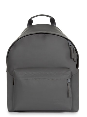 """Eastpak Skórzany plecak """"Padded Pak'r"""" w kolorze szarym - 30 x 40 x 18 cm"""