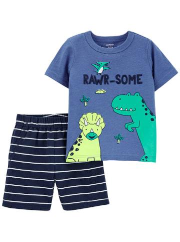 Carter's 2tlg. Outfit in Blau/ Dunkelblau