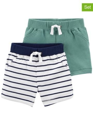 Carter's 2er-Set: Shorts in Grün/ Dunkelblau