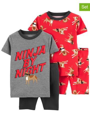 Carter's 2-delige set: pyjama's rood/grijs