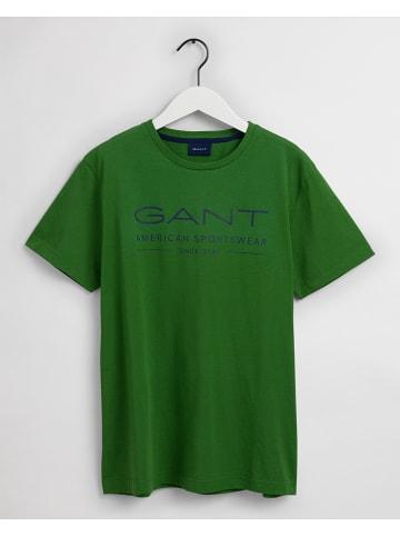 Gant Koszulka w kolorze zielonym