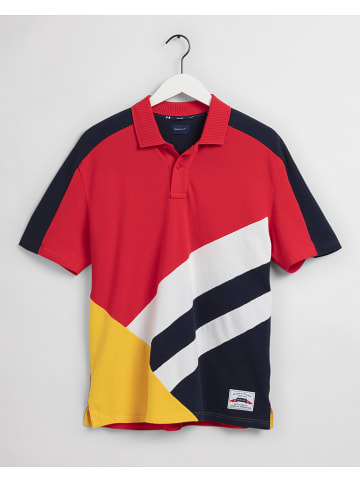 Gant Poloshirt in Rot/ Schwarz