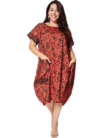 Aller Simplement Sukienka w kolorze czerwonym ze wzorem