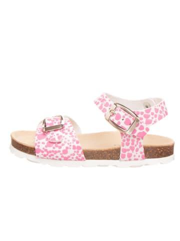 BIO PINGÜIN Sandały w kolorze jasnoróżowo-białym