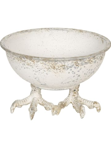 Clayre & Eef Dekoracyjna miska w kolorze białym - Ø 17 cm