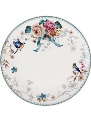 Clayre & Eef Dinerbord meerkleurig/wit - Ø 26 cm