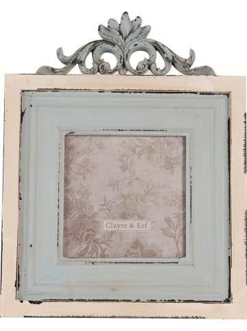 Clayre & Eef Ramka w kolorze błękitnym na zdjęcia - 23 x 18 cm