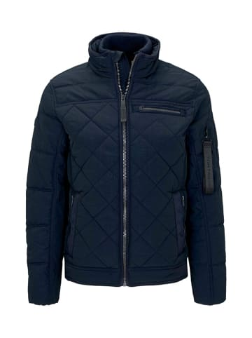 Tom Tailor Doorgestikte jas donkerblauw