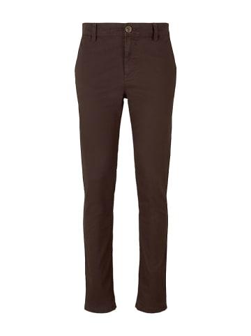 Tom Tailor Spodnie - Slim fit - w kolorze brązowym