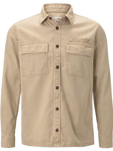 TOM TAILOR Denim Koszula - Regular fit - w kolorze beżowym