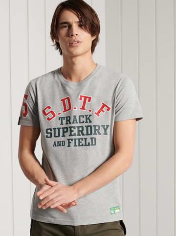 """Superdry Koszulka """"Track & Field"""" w kolorze szarym"""