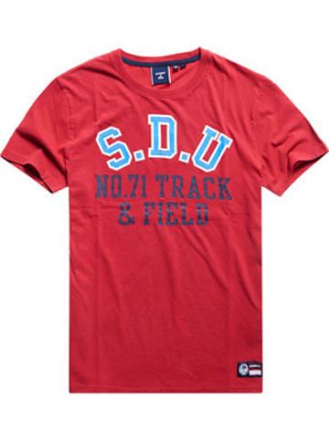 """Superdry Koszulka """"Track & Field"""" w kolorze czerwonym"""