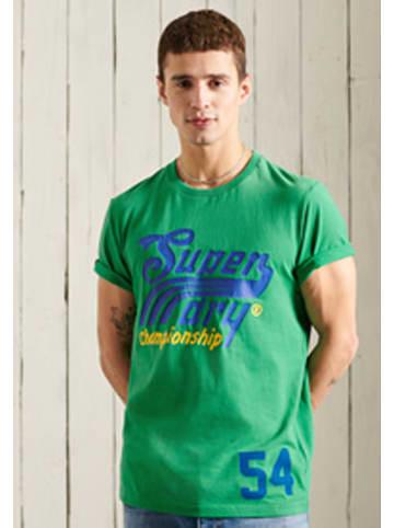 "Superdry Koszulka ""Collegiate"" w kolorze zielonym"