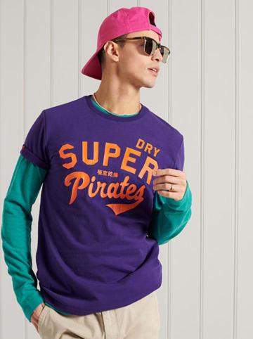 """Superdry Shirt """"Collegiate"""" paars"""