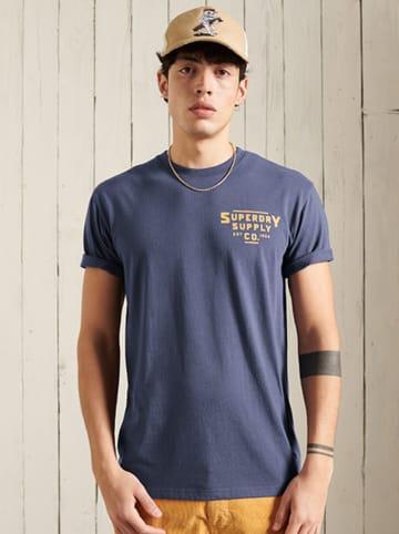 """Superdry Shirt """"Heritage"""" blauw/grijs"""